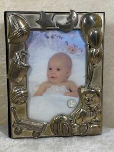 """Vintage Godinger Silver Art Baby Photo Album 50 Pages  4"""" x 6"""" 100 Photos"""