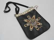 GOLDEN TOP CANADA CROSSBODY PURSE DESIGNED BY COREY BULPITT-CSUN BLACK GRAPH NWT