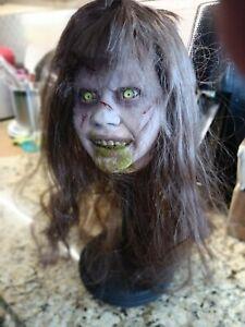 Exorcism Possessed PUKE version horror resin BUST on stand