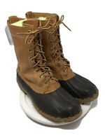 VTG LL Bean Maine Hunting Shoe Leather Rubber Rain Duck Hunting Boots 7 W Men's.