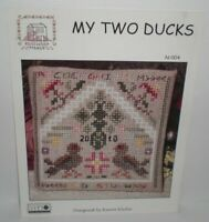 Rosewood Manor MY TWO DUCKS Cross Stitch Chart Pattern Leaflet N-004 Karen Kluba