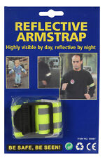 REFLECTIVE ARM STRAP HIGH VISIBILITY SAFETY CYCLING WALKING RUNNING DAY NIGHT