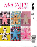 McCALL/'S M6481 Angry Birds Style Stuffed Animal Plush Throw Toys Sewing Pattern