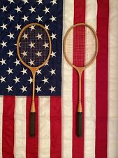 VINTAGE J.C. Higgins Sears & Roebuck Badminton Racquet Lot Of 2 Good Condition