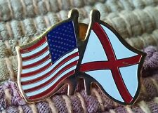 USA American Flag State of Alabama Friendship lapel pin pre-owned