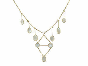 Victorian 23.40 Ct Moonstone and 12k Yellow Gold Necklace, 1880s