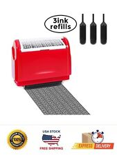 Identity Theft Protection Roller Stamp Guard Your Id Privacy Data 3 Refill Ink