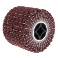 1Pc/#80Grit Non-woven Abrasive Flap Wire Drawing Polishing Burnishing Wheel