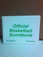 Martin Sports Official Basketball Score Book 30 Games Brand New See Pictures !