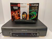 Sanyo VHS 4 Heads Hi-Fi VCR w/OFFICIAL SANYO REMOTE, BLANK TAPE,CABLES