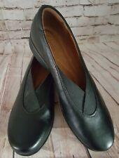CLARK'S Aubria Fay Artisan Black Leather Slip On Shoes Women's US 7 1/2 Narrow