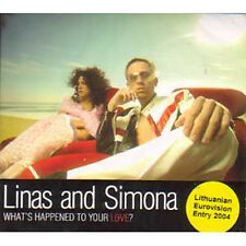MAXI CD EUROVISION 2004 Lithuanie Linas and Simona	What's happened to your love