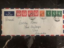 1953 London England Airmail Cover To Canada