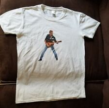 GEORGE MICHAEL T-SHIRT, SIZE ADULT SMALL, WHITE, NWOT