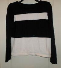 VGUC Jones New York Country Petites Black / White Striped Sweater SZ PS