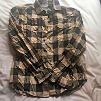 Bonobos Mens Checkered Plaid Flannel Button Down Shirt Medium, Slim Fit