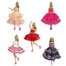 5PCS Handmade Mini Dresses Dancing Skirt Clothes Outfit Gown for Barbie Doll US