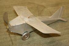RARE 1920'S FERDINAND STRAUSS INC SE 1011 Aluminum Wind Up Silver Eagle Airplane