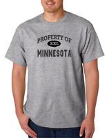 USA Made Bayside T-shirt USA State Property Of Minnesota