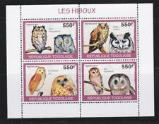 TOGO 2010 BIRD STAMPS OWLS SS MNH - BIRDL534