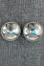 Navajo Turquoise & Sterling Silver Earrings - Judy Largo