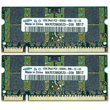 Samsung 2GB PC2-5300 667Mhz RAM DDR2 Laptop Memory (2x 1GB) 200-pin SODIMM