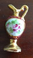 Lovely Vintage Limoges France Miniature Pitcher Vase or Urn