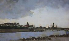 PAUL WESCOTT-PAFA Impressionist-Original Signed Oil-Paris, Texas Landscape