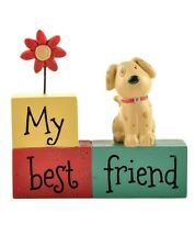 Cute Dog My Best Friend Plaque Sign Table Desk Decoration Dog Lovers Little Gift