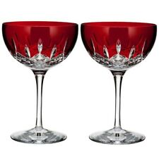 Waterford Crystal Lismore Pops Red Cocktail Set of 2 #40026613 New in Box