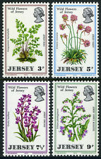 Jersey 61-64, MI 61-64, MNH. Wild Flowers:Fern,Thrift,Orchid,Vipers buglos, 1972