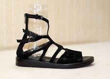 800$ ANN DEMEULEMEESTER black chunky flat gladiator sandals 35 fit 36 us6 uk3.5