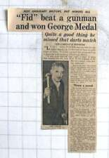 1954 Reg Fidler Wins George Medal For Fighting Off Gunman Long Ashton Somerset