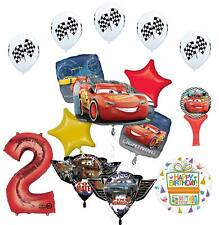 Cars Lightning McQueen and Friends 2nd Birthday Party Supplies Balloon Bouque...