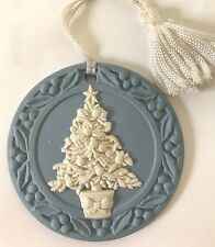 ❤️VINTAGE WEDGWOOD CHRISTMAS TREE ORNAMENT 🎄 1988 JASPERWARE DISC EUC No Box❤️