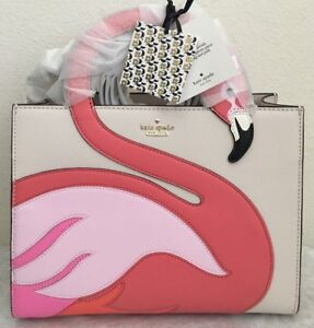 NWT!! KATE SPADE NEW YORK BY THE POOL FLAMINGO SAM SATCHEL BAG~~Sold out!!