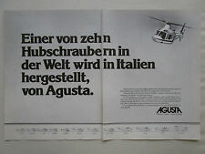12/1979 PUB AGUSTA A109 HELICOPTER HUBSCHRAUBER HELICOPTERE ORIGINAL GERMAN AD