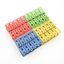 20x pesados plástico ropa de lavandería Pins color colgando pinzas clips DeluxeS