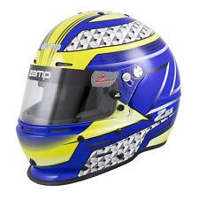 Zamp RZ62 Helmet SA2020 Hans Compatible - Blue/Green Size Large 60cm