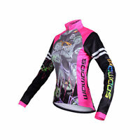 Sobike Women's Cycling Thermal Jacket Long Jersey Long Sleeve-Lemon