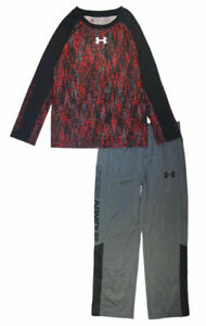 Under Armour Boys L/S Printed Dry Fit Top 2pc Pant Set Size 5