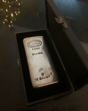 Johnson Matthey London Poured Kilo 1kg 35.5oz Silver Vintage Rare Ingot Bar