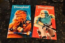 DISNEYLAND AND DCA STAR WARS MAIN GATE MAPS CHEWBACCA AND STORM TROOPER