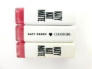 Lot of 3 Covergirl Katy Perry Katy Kat Matte Lipstick Tube KP06 Cat Call Pink