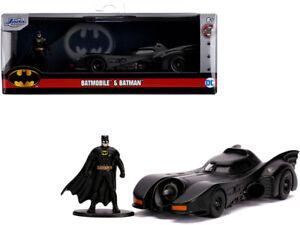 1989 Batmobile w/ Diecast Batman Figurine DC Comics 1/32 Diecast Mdl. Jada 31704