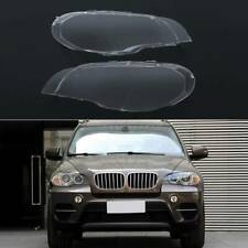 For BMW X5 E70 2007-2013 Pair Left right Headlight Cover Lamp Lens Lampshade