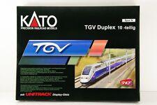 N-Scale KATO K10916 TGV Duplex 10 Car Set with Display UNITRACK VERY RARE!!