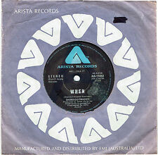 "SHOWADDYWADDY - WHEN - RARE 7"" 45 SAMPLE VINYL RECORD - 1977"