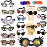 Hot Victorian Steampunk Eyewear Goggles Cosplay Vintage Glasses Welding Cyber #U