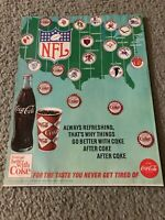 1966 NFL TEAMS COKE Print Ad GREEN BAY PACKERS CLEVELAND BROWNS BALTIMORE COLTS